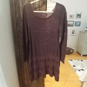 Peruvian Connection light sweater dress or tunic